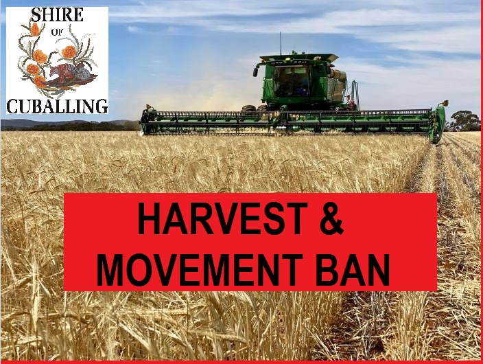 Christmas/New Year Harvest Bans