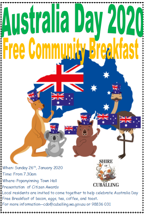 Australia Day 2020 Community Breakfast