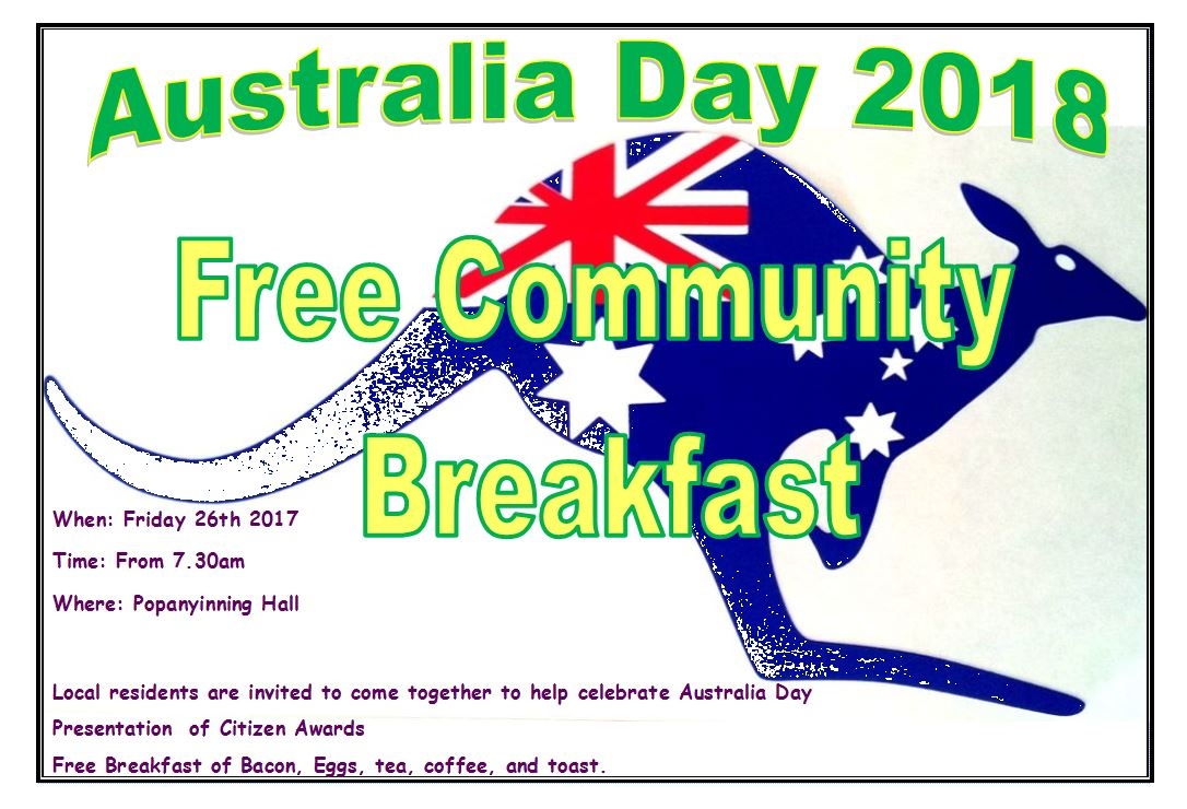 Australia Day 2018 Community Breakfast