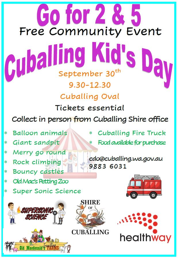 Go For 2 & 5 Cuballing Kids Day