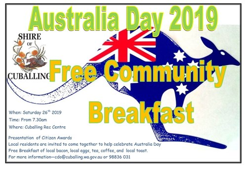 Australia Day Breakfast 2019